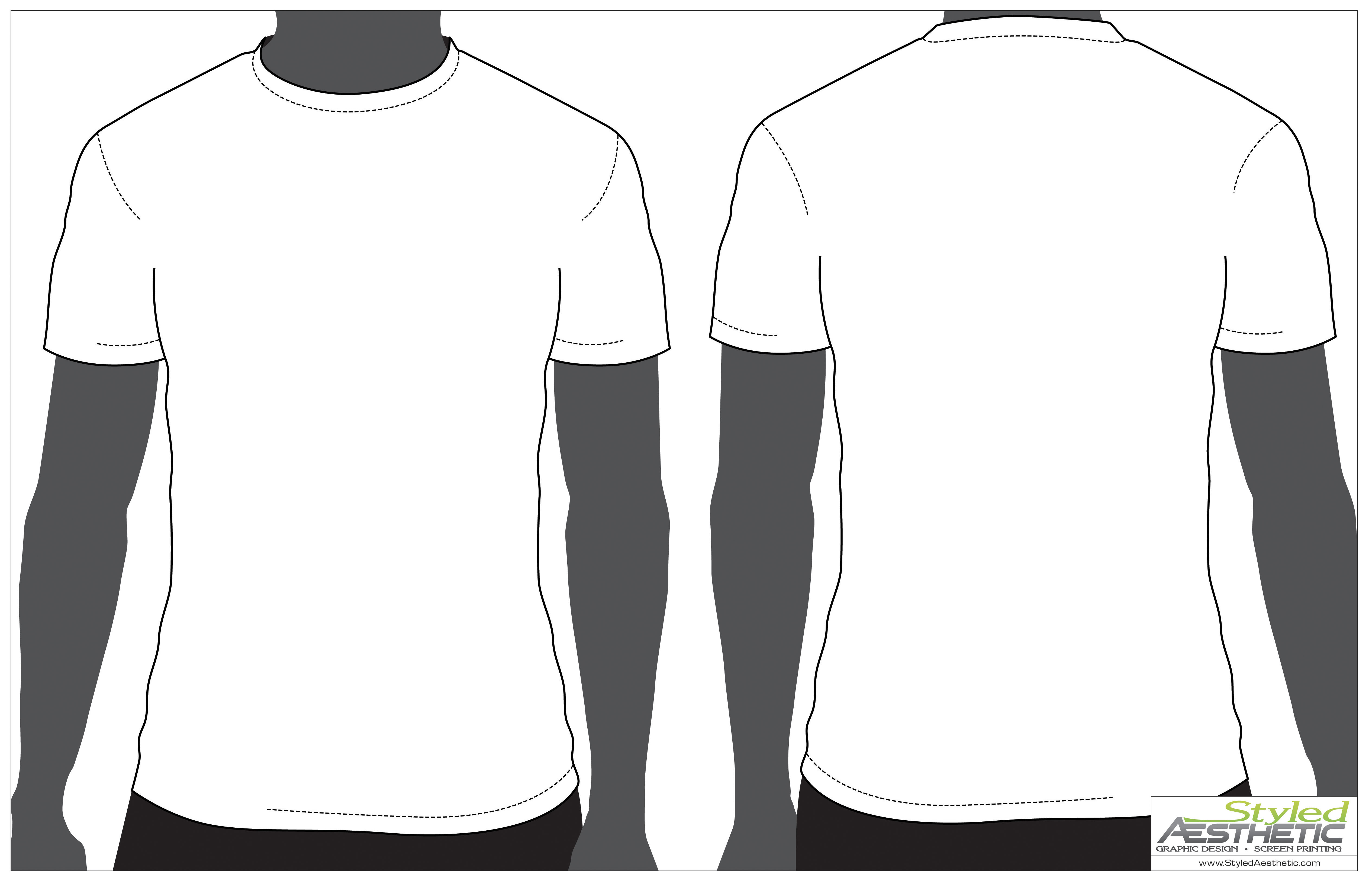 T shirt template front and back maxwellsz